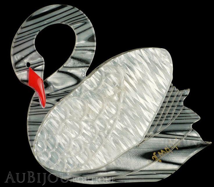 Erstwilder Bird Brooch Pin Sabine the Swan White