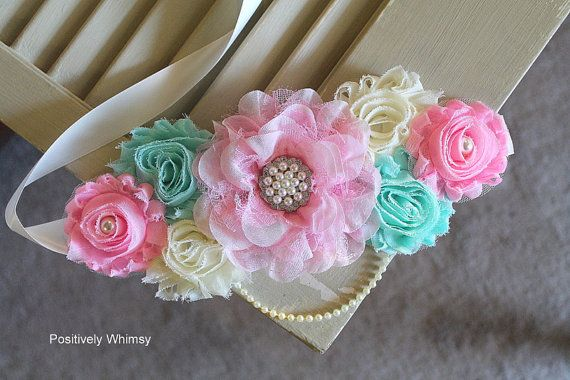 Maternity Sash Belly Sash Baby Girl Maternity by PositivelyWhimsy