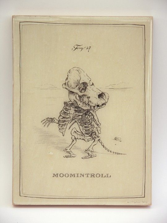 Moomintroll Skeleton Panel by mpaulus on Etsy, $57.00
