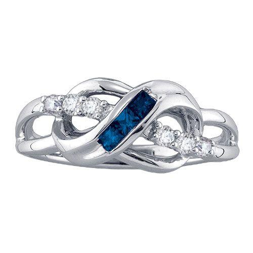 Daniels Jewelers :: Sapphire Infinity Ring