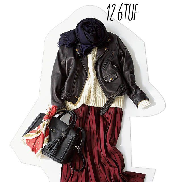 ビターなジャケット×女っぽスカートで甘辛ミックススタイル-@BAILA ワタシを惹きつける。モノがうごく。リアルにひびく。BAILA公式サイト|HAPPY PLUS(ハピプラ)集英社