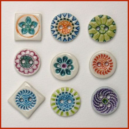 Ceramic buttons - www.birthine.dk