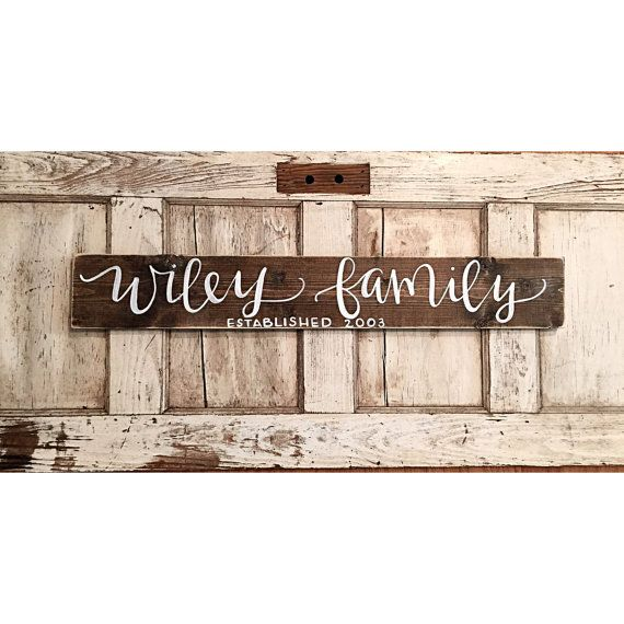Last Name Sign  Rustic Home Decor  Wedding  by SalvagedChicMarket