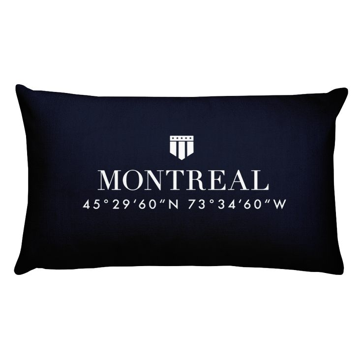 Montreal Pillow with Coordinates