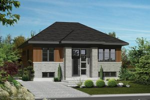 Contemporary Exterior - Front Elevation Plan #25-4270 - Houseplans.com LOVE THE WINDOWS NEXT TO THE FRONT DOOR!
