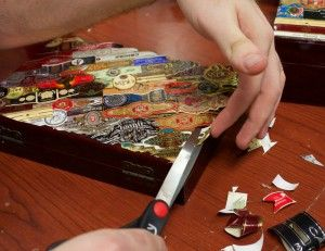DIY Woodworking Ideas How to Decorate a Humidor with Cigar Bands - CH Blog