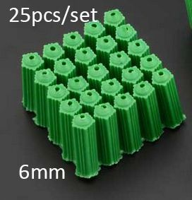 400pcs/lot 6mm plastic expansion screws bolt pipe pull Aseismic Undercut Anchor Bolts Plastic Plug M6 wall plug pipe #men, #hats, #watches, #belts, #fashion, #style
