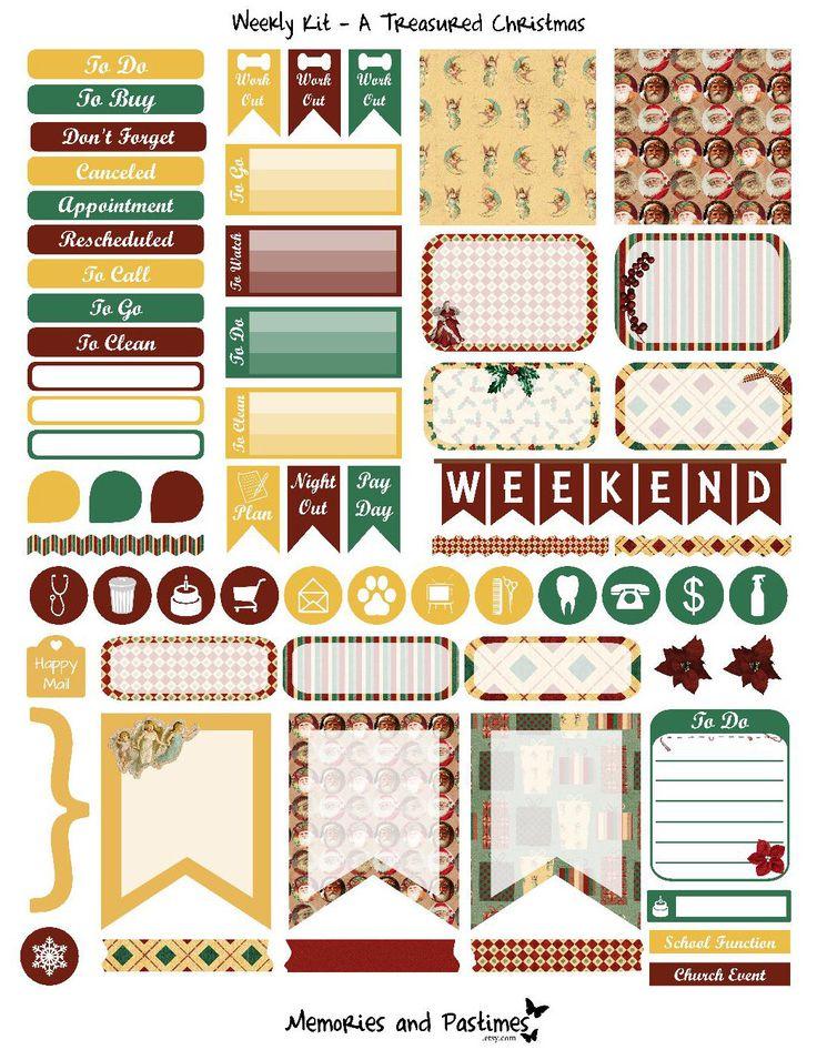 December Weekly Kit Planner Sticker Set - A Treasured Christmas
