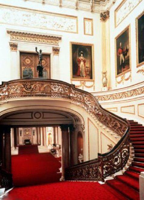The interior of Buckingham Palace, London