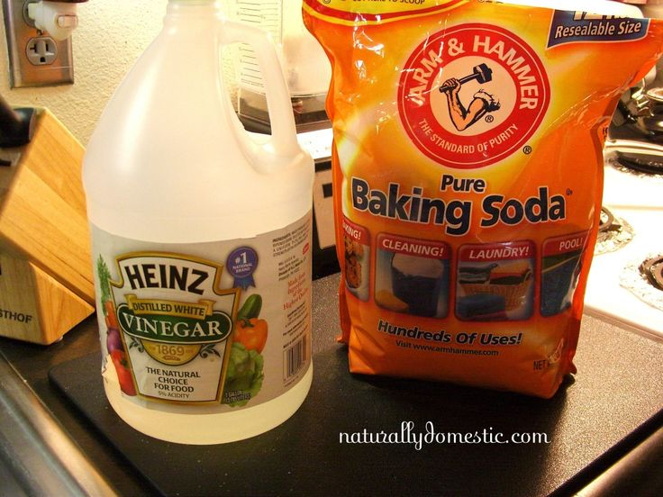 Toilet Cleaning alt Pour 1/4 cup of baking soda in your toilet bowl. Then follow it with 1 cup of vinegar. It will bubble like crazy. Let it sit for five minutes or however long. Then come brush it. It will fizz all over again.
