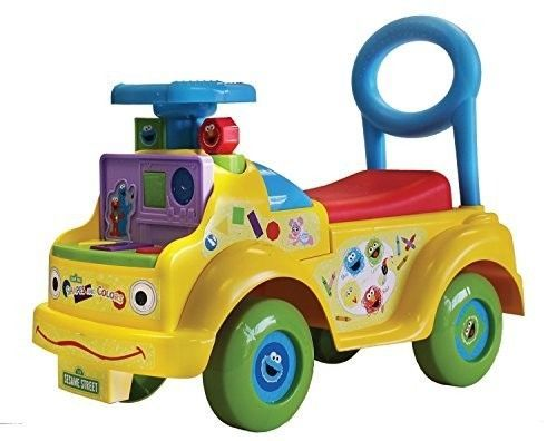 Preschool Ride On Toy Activities Learn Shape Color Toddler Walker Bar Storage  #SesameStreet