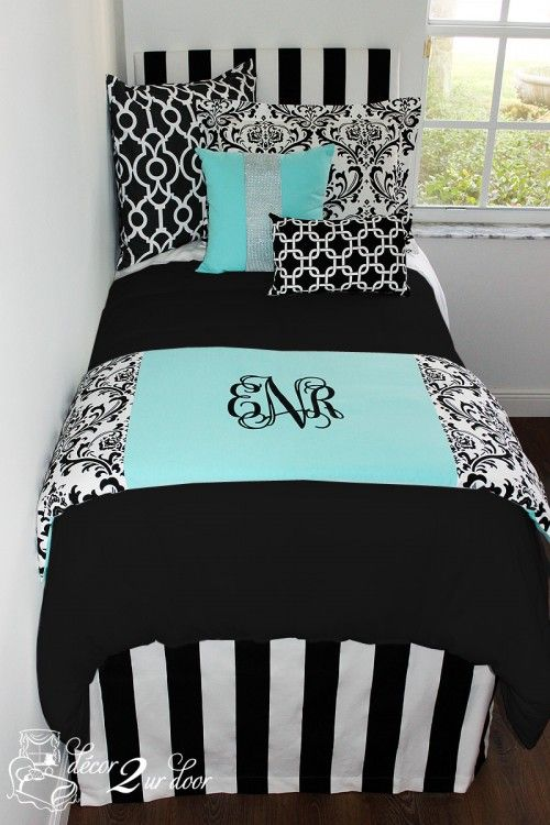 Tiffany Blue Designer Bed In A Bag Set