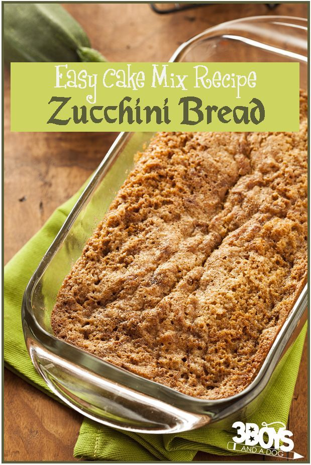 Zucchini Bread Recipe from Boxed Cake Mix