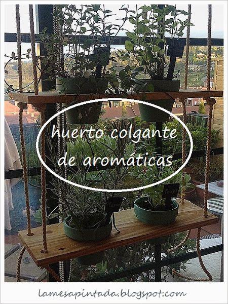 Huerto colgante de aromaticas