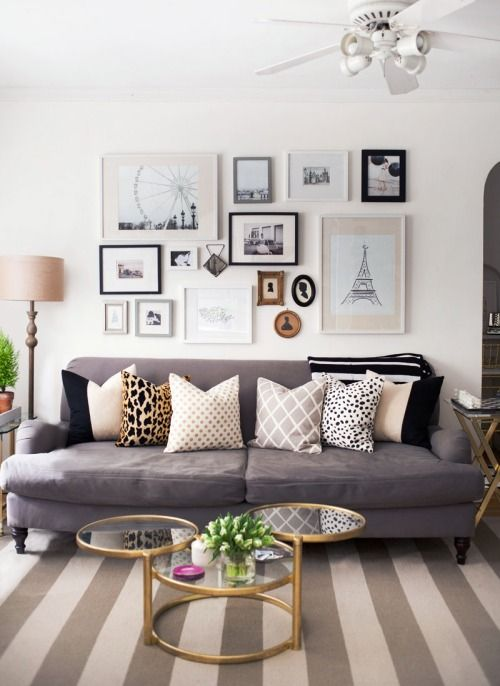 Neutral Browns And Greys :: Easy Living Room Decorating Ideas