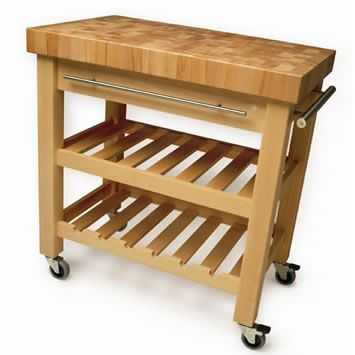 The Leverton Butchers Block Trolley - the perfect companion in a busy kitchen!
