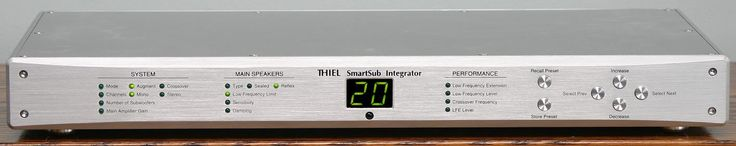 Thiel SmartSub Integrator which could accommodate up to 16(!) Thiel SmartSubs at the same time and could also be used with any other speaker from any manufacturer and seamlessly blend those speakers with any Thiel subs by simply entering the speakers parameters into the Integrator (for a hi-res look at the Integrator, click on the pic again after you've clicked on the post to bring it up).