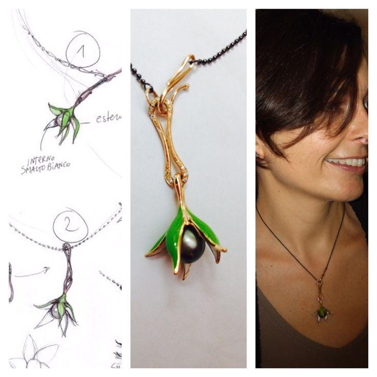 La perla di Tahiti regalata durante il viaggio di nozze, finalmente ha trovato la giusta collocazione!