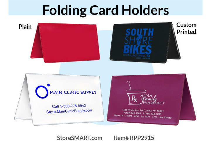 Our Folding Card Holders Are Great Way To Advertise For Your