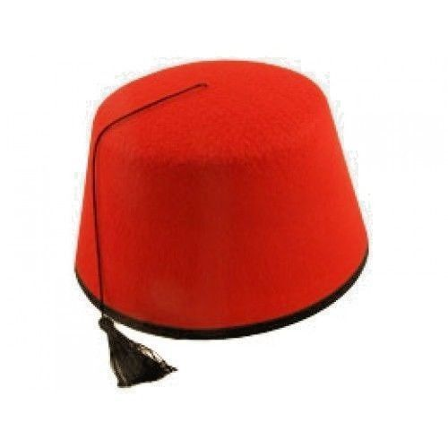 c8fba529dcc Adult Red Fez Tarboosh Hat Moroccan Turkish Fancy Dress Up Costume  Accessories