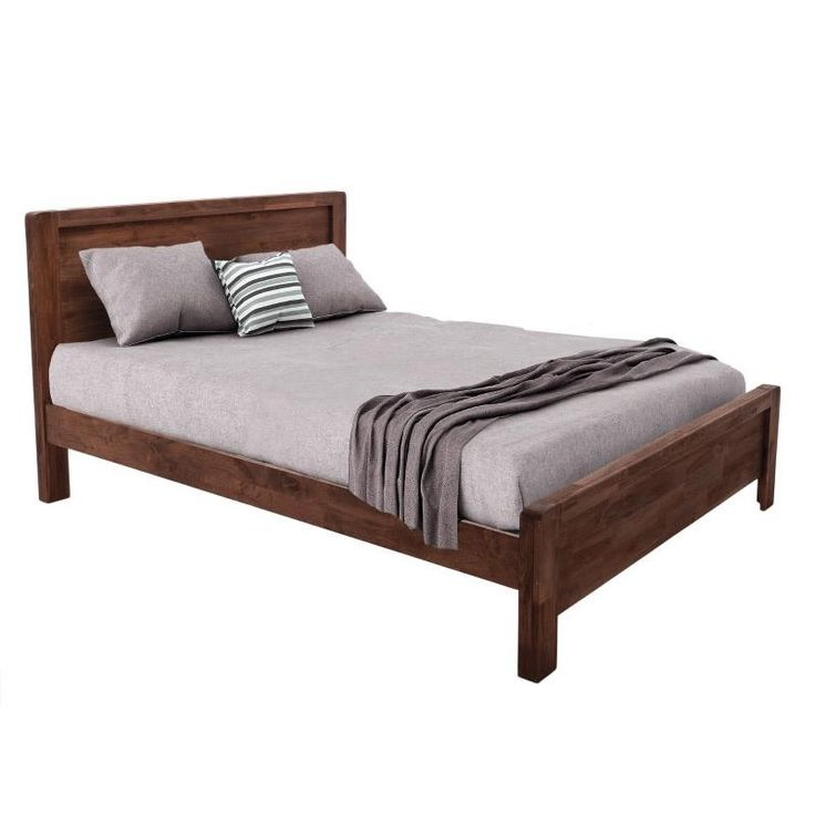 Wooden Douple Bed - Beds - FURNITURE - inart