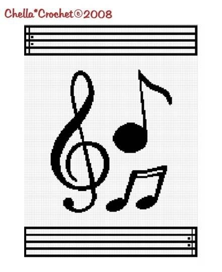 Free Crochet Patterns For Music Notes : 71 best images about Cross Stitch Music on Pinterest