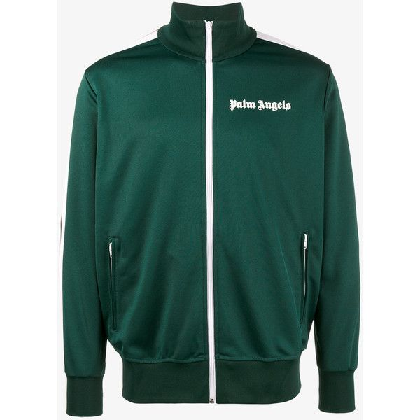 Palm Angels Classic Track Jacket ($455) ❤ liked on Polyvore featuring men's fashion, men's clothing, men's activewear and men's activewear jackets