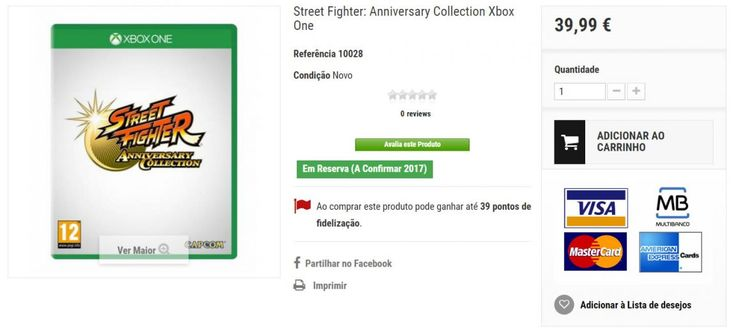 A Street Fighter Anniversary Collection for PS4 and Xbox One keeps popping up on European retailers – but is it real?