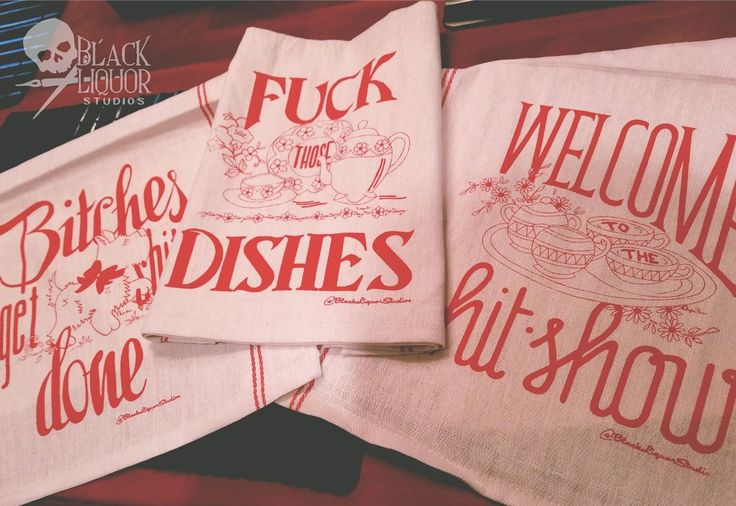 OOOOOh these are lovely! FAB-OH tea towels for the sarcastic homemaker who likes…