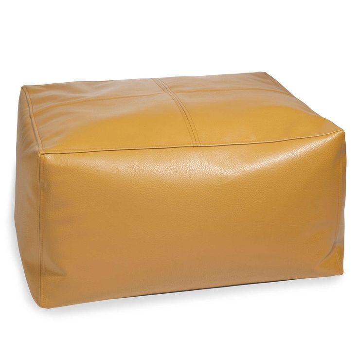 Pouf quadrato color senape DOMO