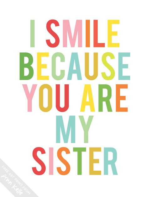 8x10 free printable sister wall art at www.annkelle.com