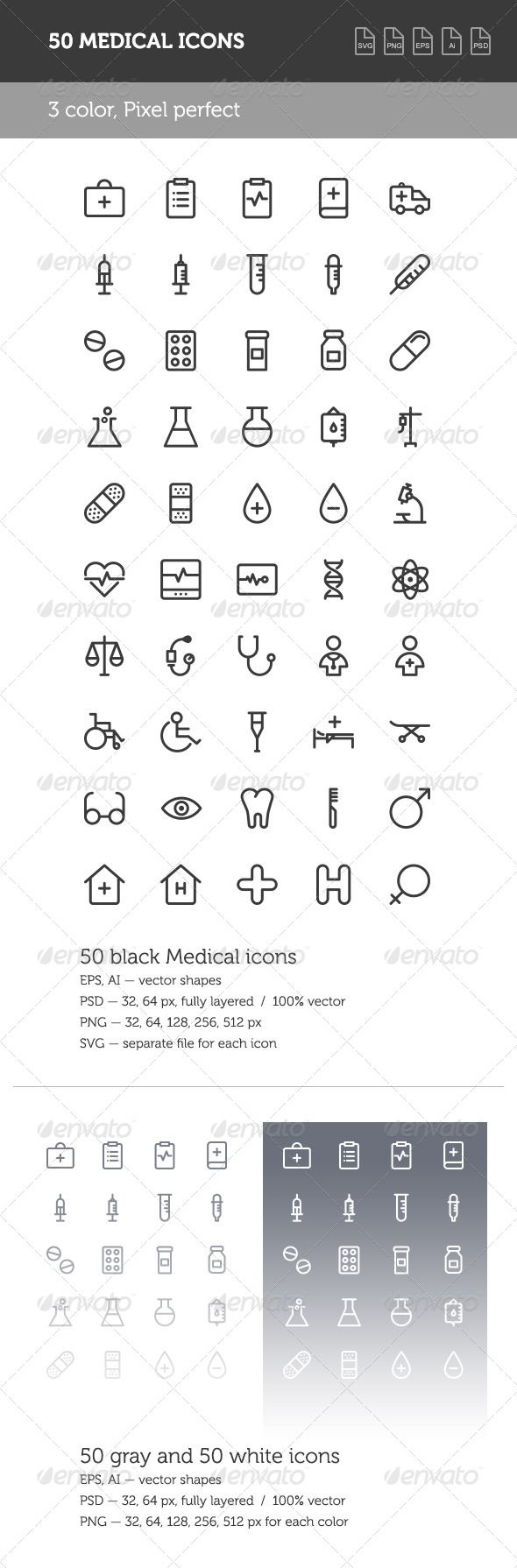 Medical Icon Set — Photoshop PSD #doctor #care • Available here → https://graphicriver.net/item/medical-icon-set/8605224?ref=pxcr