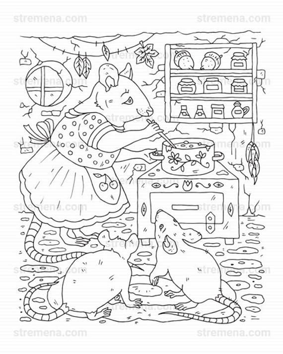 Woodland Mother Mouse Family Printable Coloring Pages Etsy Coloring Books Coloring Pages Mothers Day Coloring Pages