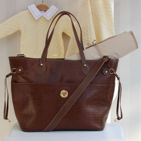 Bolsa Luiza Lezard - Moderna e elegante, a bolsa Luisa é perfeita para as mamães que querem espaço com charme!