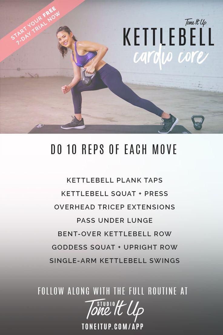 Kettlebell cardio core workout!