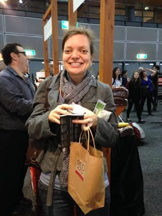 It was great to meet some of our fans at the Sydney Good Good and Wine Festival in June 2014. This is a picture of one of the fans that won a FREE ticket to the show with a Red Kellys Tasmania showbag!