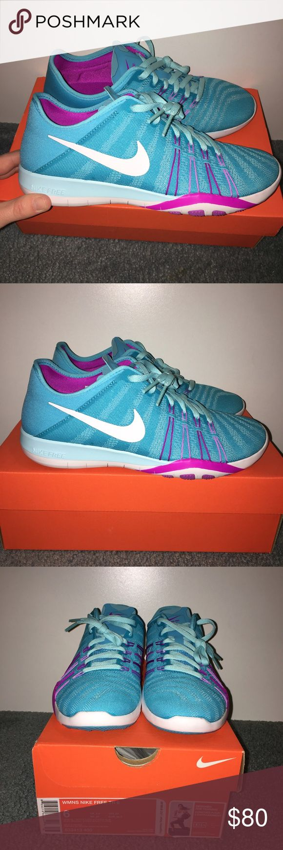 (6) Nike Free Run Training 6 Brand new in box Women's size 6 Baby blue & purple Nike training shoes   Retails for $100 Nike Shoes Athletic Shoes