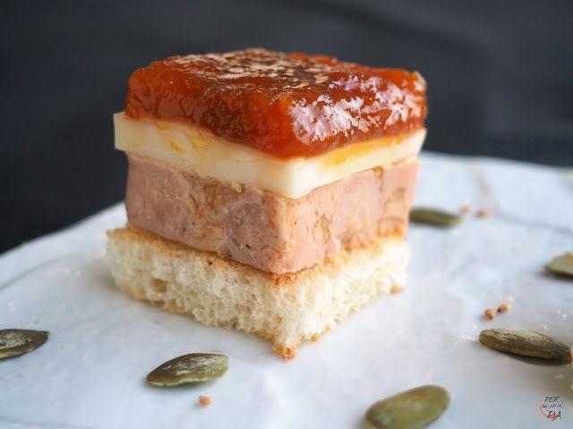 Foie con queso de Arzua y calabaza caramelizada