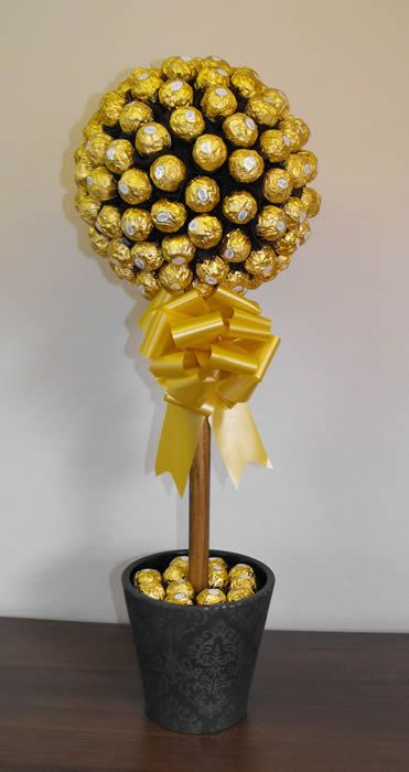 Ferrero Rocher Chocolate Tree And Tree Centerpieces On