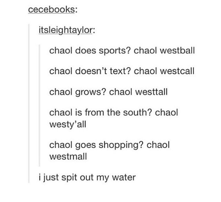 Chaol from the west is hilarious