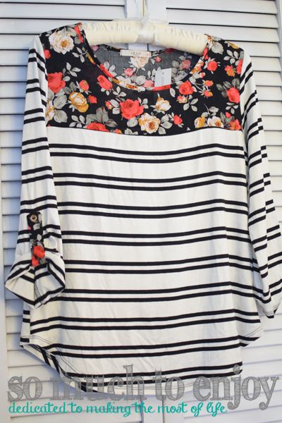 Le Lis Sutherlin Contrast Print Knit Top Stitch Fix Review January 2016