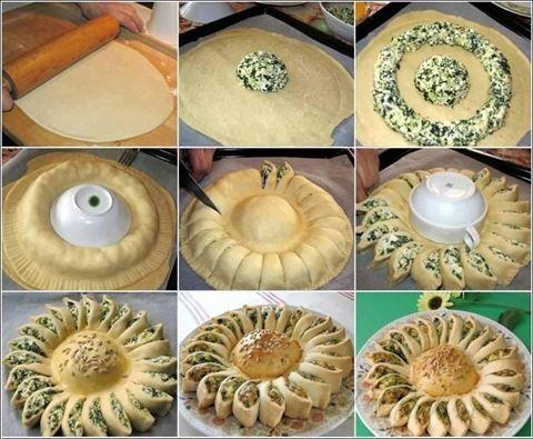 Obrázek z Recept - Špenátovo - sýrová slunečnice