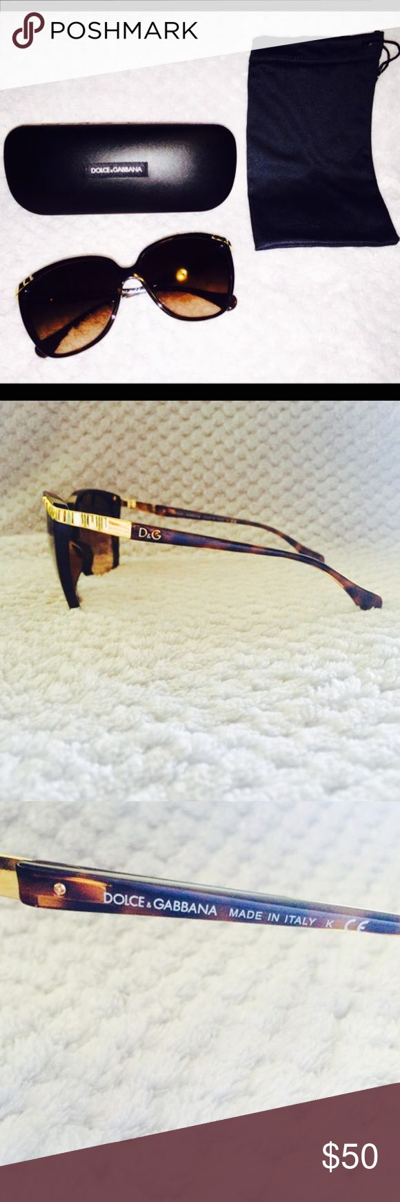 D&G DD8096 Wave Detail Tortoise Women's Sunglasses % Authentic Dolce & Gabbana tortoise sunglasses. In perfect/ excellent condition. Very pretty and elegant. Dolce & Gabbana Accessories Glasses
