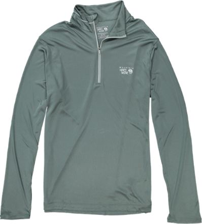Mountain Hardwear Men's Wicked Zip T-Shirt Thunderhead Grey XXL