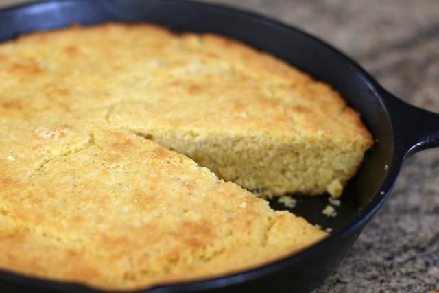 This awesome buttermilk cornbread is baked to perfection in a hot seasoned cast iron skillet. Serve this classic cornbread with beans, soup, greens, or chili.