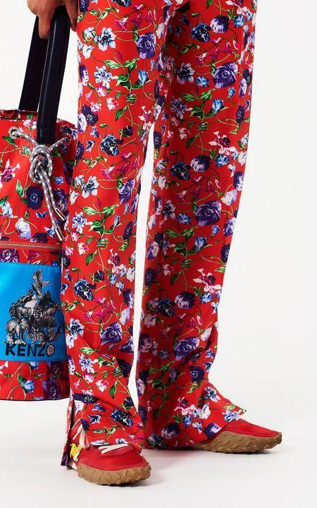 0110b03a5766 MEDIUM RED  Wild Flowers  Pants for women KENZO