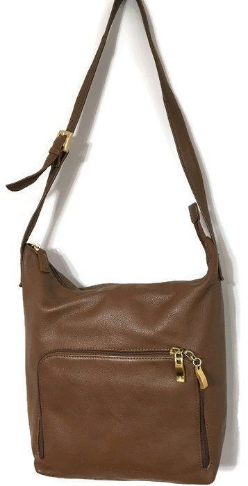 f2c9bc3669 Stone Mountain Purse Shoulder Hobo Bag Brown Soft Leather Many Pockets   StoneMountain  ShoulderBag