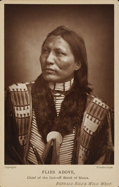 Flies Above, Chief of the Cut-off Band of Sioux.  about 1880s.  Hood Museum of Art, Dartmouth College: Purchased through the Mrs. Harvey P. Hood W'18 Fund