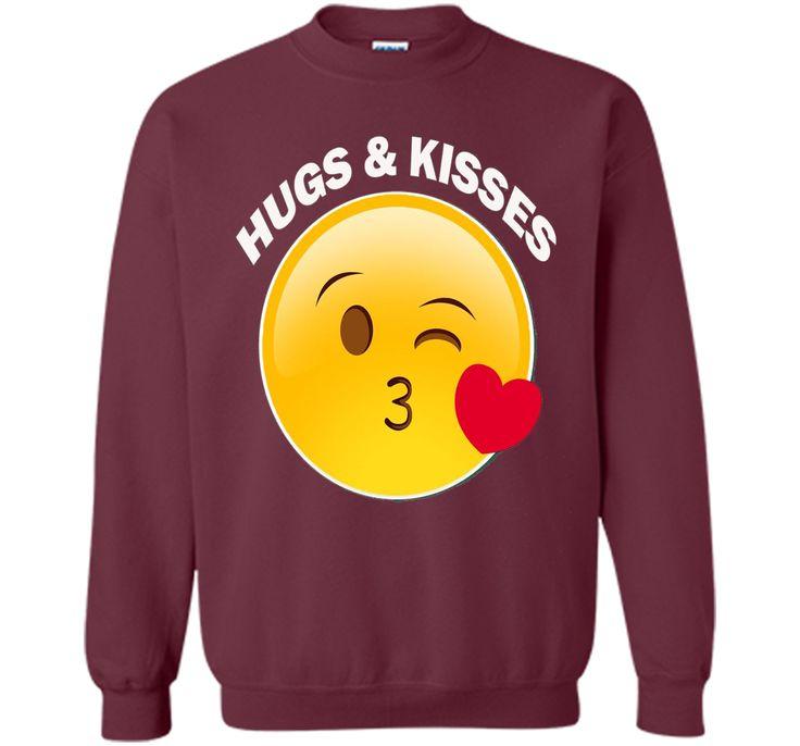 Valentine's Day Tshirt for hugs and kisses -Emoji.