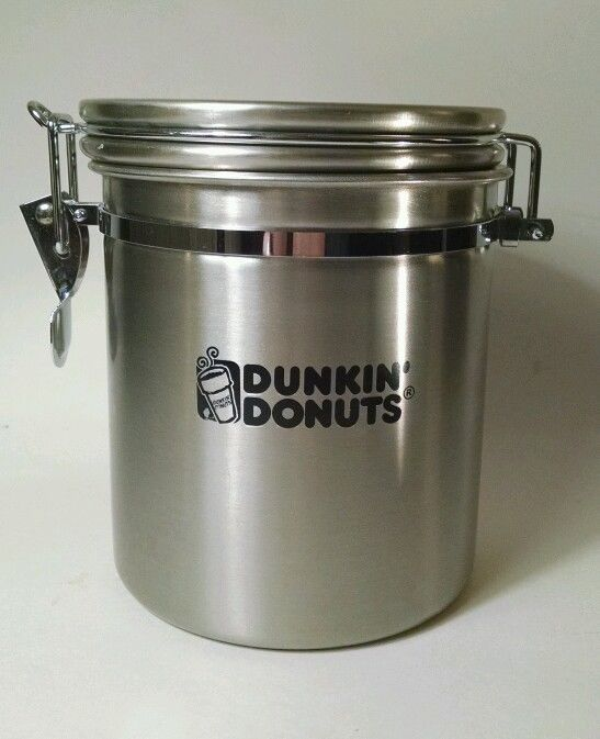 Dunkin Donuts Stainless Steel Canister Coffee
